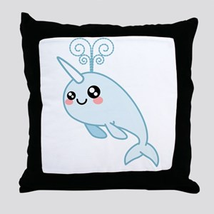 Narwhal Cutie Throw Pillow