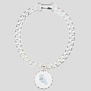 Narwhal Cutie Charm Bracelet, One Charm