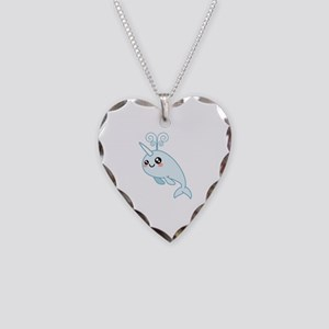 Narwhal Cutie Necklace Heart Charm