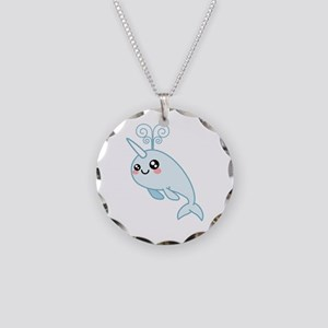 Narwhal Cutie Necklace Circle Charm