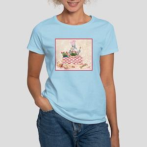 Chef Schnauzer Humorous Women's Pink T-Shirt