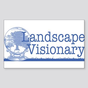 Landscape Visionary Sticker (Rectangle)