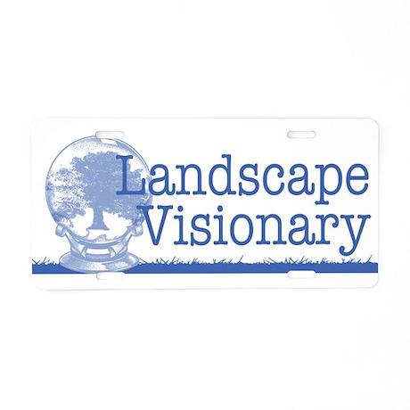 Landscape Visionary Aluminum License Plate