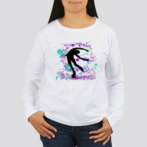 Figure Skater Spin Women's Long Sleeve T-Shirt