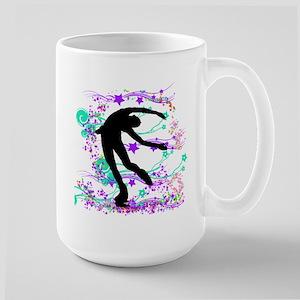 Figure Skater Spin Large Mug