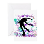 Figure Skater Spin Greeting Card
