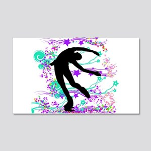 Figure Skater Spin 20x12 Wall Decal