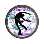 Figure Skater Spin Wall Clock