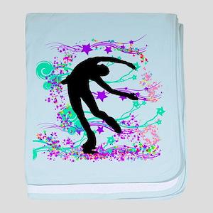 Figure Skater Spin baby blanket