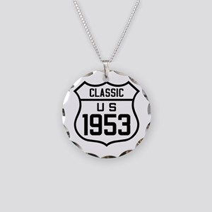 Classic US 1953 Necklace Circle Charm