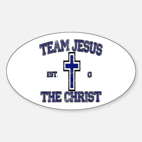 Unique Team jesus christ Sticker (Oval)