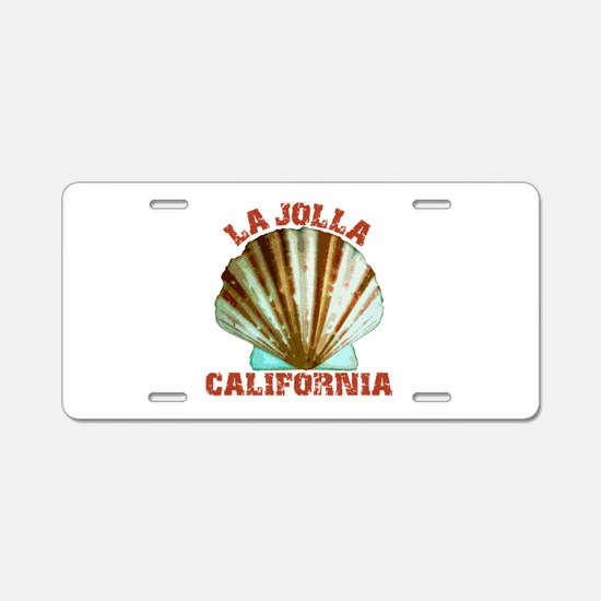La Jolla California Aluminum License Plate
