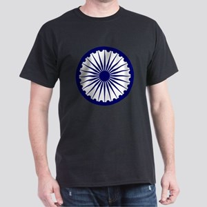 India Ashoka's Dharma Chakra Dark T-Shirt