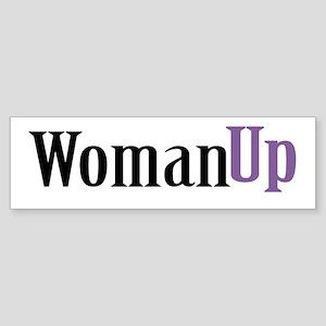 Woman Up Sticker (Bumper)