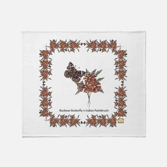 Buckeye Butterflies 'n' Indian Paintbrush Blanket