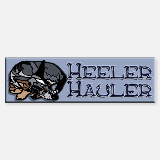 Heeler Hauler - Blue - Sticker (Bumper)