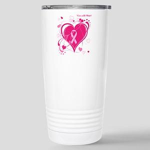 Run With Heart Stainless Steel Travel Mug