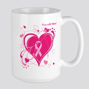 Run With Heart Large Mug