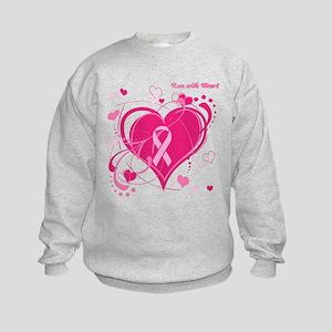 Run With Heart Kids Sweatshirt