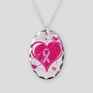 Run With Heart Necklace Oval Charm