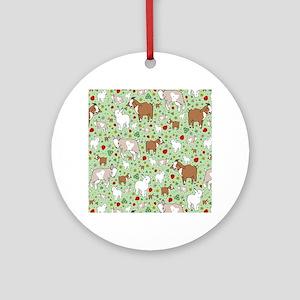 Goats Round Ornament