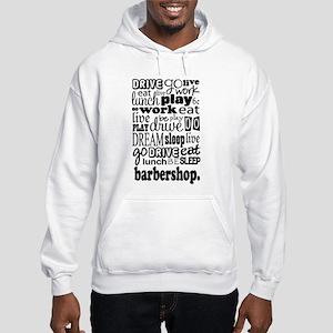 Eat, Sleep, Work, Play Barbershop Hooded Sweatshir
