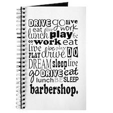 Eat, Sleep, Work, Play Barbershop Journal