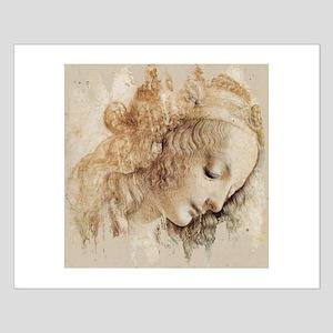 Vintage Da Vinci Woman Small Poster