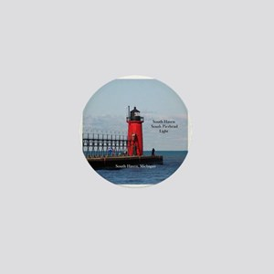 South Haven Pierhead Light Mini Button