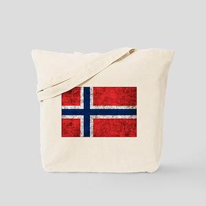 Norway Grunge Tote Bag