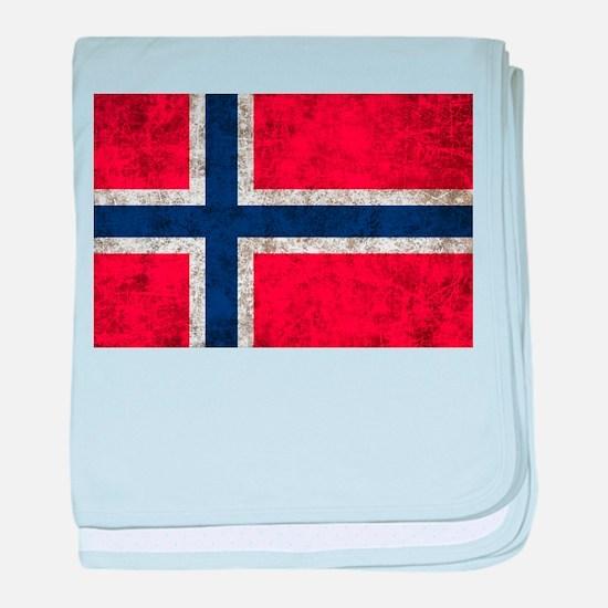 Norway Grunge baby blanket