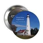 "Wind Point Lighthouse 2.25"" Button"