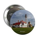 "Whitefish Point Lighthouse 2.25"" Button"