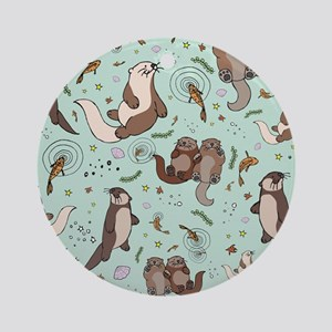 Otters Round Ornament