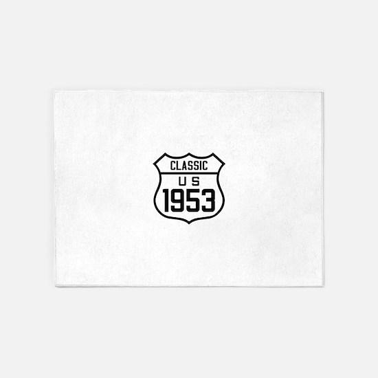 Classic US 1953 5'x7'Area Rug