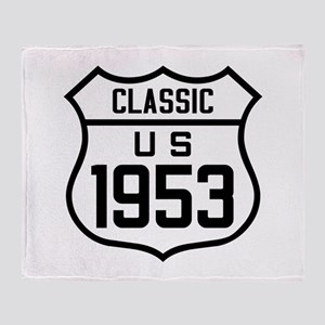 Classic US 1953 Throw Blanket