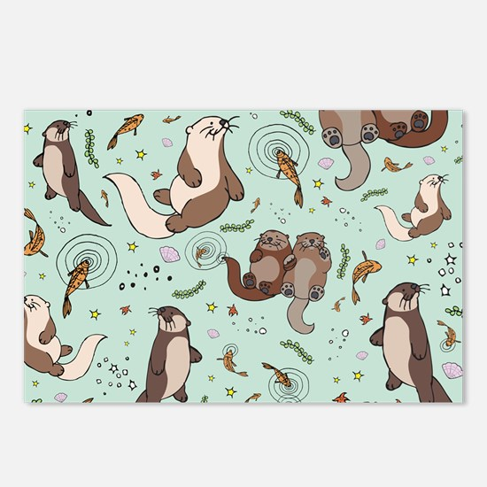 Otters Postcards (Package of 8)