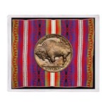 Indian Design-H2bb Throw Blanket