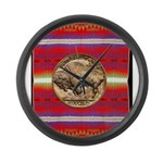 Indian Design-03a Large Wall Clock