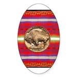 Indian Design-03a Sticker (Oval)