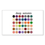 color analysis Sticker deep autumn