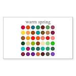 color analysis Sticker warm spring