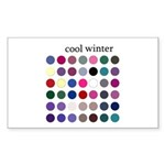 color analysis Sticker cool winter