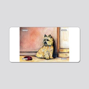 Cairn Terrier Painting Aluminum License Plate