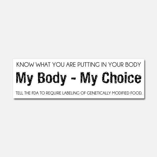 My Body My Choice GMO Car Magnet 10 x 3