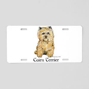 Cairn Terrier Dog Art Aluminum License Plate