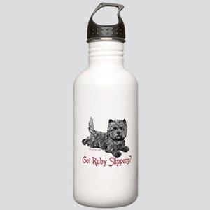 Cairn Terrier Ruby Slippers Stainless Water Bottle