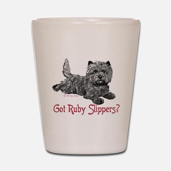Cairn Terrier Ruby Slippers Shot Glass
