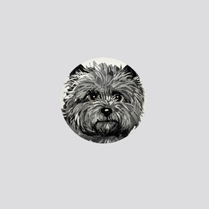 Cairn Terrier Toto Face Mini Button
