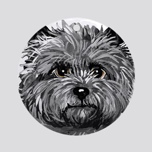 Cairn Terrier Toto Face Ornament (Round)